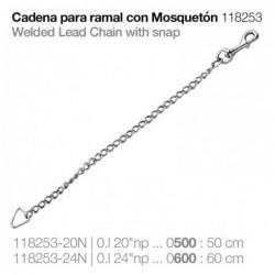 CADENA PARA RAMAL CON MOSQUETÓN 118253-20N