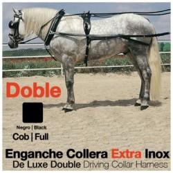 ENGANCHE COLLERA EXTRA INOX DOBLE NEGRO