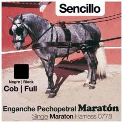 ENGANCHE PECHOPETRAL MARATÓN SENCILLO NEGRO