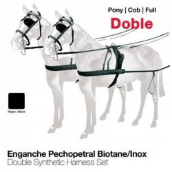 ENGANCHE PECHOPETRAL BIOTANE/INOX DOBLE