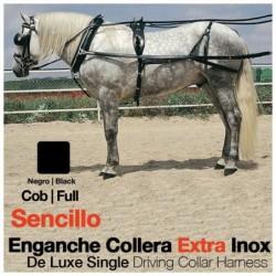 ENGANCHE COLLERA EXTRA INOX SENCILLO NEGRO