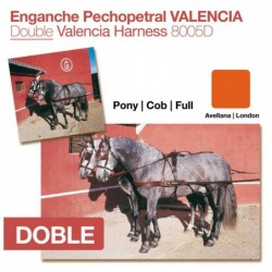 ENGANCHE PECHOPETRAL VALENCIA DOBLE AVELLANA