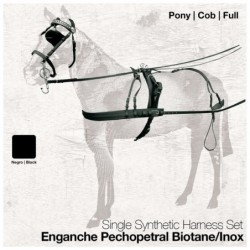 ENGANCHE PECHOPETRAL BIOTANE/INOX SENCILLO