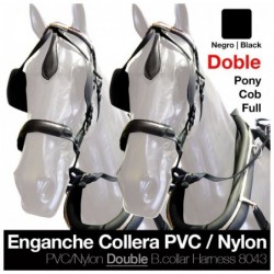ENGANCHE COLLERA PVC/NYLON DOBLE NEGRO