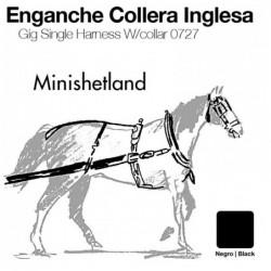 ENGANCHE COLLERA INGLESA CUERO MINISHETLAND NEGRO