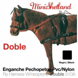 ENGANCHE PECHOPETRAL PVC/NYLON DOBLE MINISHETLAND