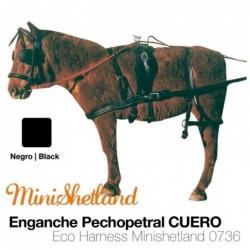 ENGANCHE PECHOPETRAL CUERO MINISHETLAND NEGRO