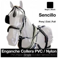 ENGANCHE COLLERA PVC/NYLON SENCILLO NEGRO
