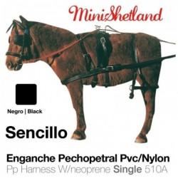 ENGANCHE PECHOPETRAL PVC/NYLON SENCILLO MINISHETLAND