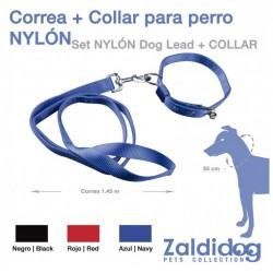 PERRO CORREA + COLLAR NYLON...
