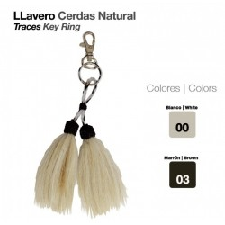 LLAVERO CERDAS NATURAL