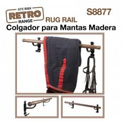 COLGADOR MANTAS MADERA...