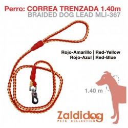 PERRO CORREA TRENZADA 1.40m